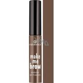 Essence Make Me Brow Eyebrow Gel Mascara gelová řasenka na obočí 02 Browny Brows 3,8 ml