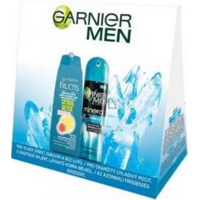 Garnier Fructis Citrus Detox šampon pro muže 250 ml + Garnier Men Extreme Ice deodorant sprej pro muže 150 ml, kosmetická sada