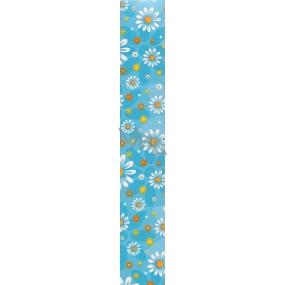 Nekupto Balící papír Klasik 811 40 BF modrý, květiny 70 x 150 cm