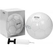Hugo Boss Soccer Ballon fotbalový míč bílý 1 kus + pumpička na míče 1 kus