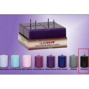 Lima Svíčka hladká černá krychle 45 x 45 mm 4 kusy