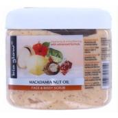 Bio Glow Macadamia Nuit Oil peeling na obličej a tělo 300 ml