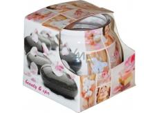 Admit Beauty & spa - Krása a lázně dekorativní aromatická svíčka ve skle 80 g