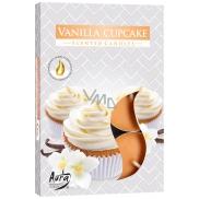Bispol Aura Vanilla Cupcake - Vanilkový košíček vonné čajové svíčky 6 kusů