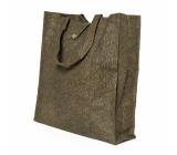 Albi Eko taška vyrobená z pratelného papíru skládací - hnědá 37 cm x 37 cm x 9,5 cm