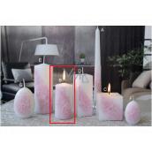 Lima Květinová svíčka světle růžová válec 50 x 100 mm 1 kus