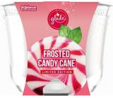 Glade Maxi Frosted Candy Cane s vůní vanilkového krému a peprmintu vonná svíčka ve skle, doba hoření až 52 hodin 224 g