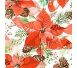 Nekupto Papírové ubrousky 3 vrstvé 33 x 33 cm 20 kusů Vánoční hvězda