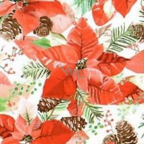 Nekupto Papierservietten Weihnachtsstern 33 x 33 cm