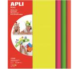 Apli Pěnovka Fluor (žlutá, zelená, oranžová, růžová) 210 x 297 x 2 mm A4 4 listy
