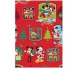Ditipo Dárkový balicí papír 70 x 200 cm Vánoční Disney Mickey, Minnie červený
