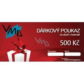 Dárkový poukaz VMD Drogerie na nákup zboží v hodnotě 500 Kč