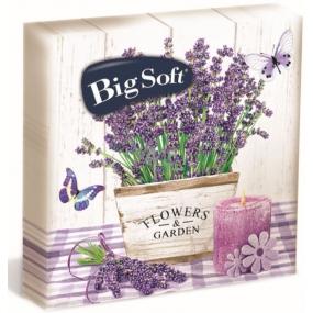 Big Soft Lavender papírové ubrousky 2 vrstvé 33 x 33 cm 20 kusů