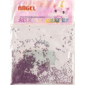 Angel Ozdoby na nehty kuličky fialové 1 balení