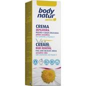 Body Natur Sensitive Heřmánek a vitamín E depilační krém pro obličej podpaží a oblasti bikin 50 ml