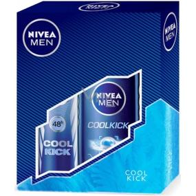 Nivea Cool Kick sprchový gel 250 ml + Cool Kick antiperspirant deodorant sprej pro muže 150 ml,pro muže kosmetická sada