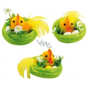 Kuře v zeleném hnízdě 8 x 5,5 cm 1 kus
