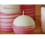 Lima Aromatická spirála Letní vánek svíčka bílo - růžová koule 100 mm 1 kus