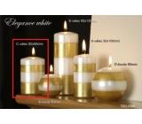 Lima Elegance White svíčka zlatá válec 60 x 90 mm 1 kus