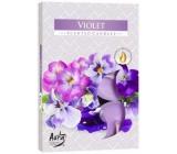 Bispol Aura Violet - Fialka vonné čajové svíčky 6 kusů