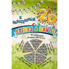 Nekupto Stírací přání k narozeninám 32 x 23 cm 20 G 20 3355