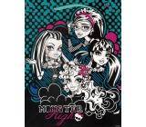 Ditipo Disney Dárková papírová taška pro děti M Monster Hight černo-modro-bílá 18 x 10 x 22,7 cm