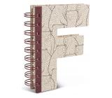 If Alphabooks Note Books Zápisník ve tvaru písmena F 91 x 14 x 124 mm