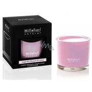Millefiori Natural Mangnolia Blossom & Wood - Květy magnólie a dřevo Vonná svíčka hoří až 60 hodin 180 g