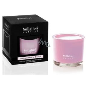 Millefiori Milano Natural Magnolia Blossom & Wood - Květy magnólie a dřevo Vonná svíčka hoří až 60 hodin 180 g