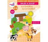 Ditipo Najdi a dolep Zvířátka stíratelný sešit, samolepky snímatelné, rozvíjí logické myšlení, jemnou motoriku pro děti 4-6 let 16 stran