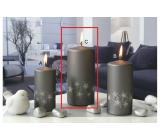 Lima Starlight svíčka šedá/stříbrná válec 70 x 150 mm 1 kus