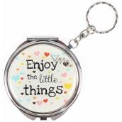 Albi Zrcátko - klíčenka s textem Enjoy the little things 6,5 cm