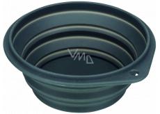 Trixie Miska cestovní, silikonová, skládací šedá, průměr 18 cm, 1 l