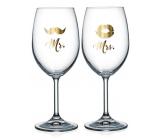 Nekupto Párové sklenice na víno Mr. & Mrs. 2 x 440 ml