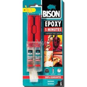 Bison Epoxy Průzračně čiré dvousložkové epoxidové lepidlo se zpracovatelností 5 minut 24 ml