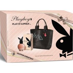 Playboy Play It Lovely toaletní voda pro ženy 50 ml + kabelka s glitry