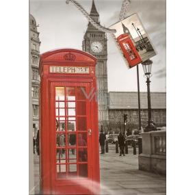 Nekupto Dárková papírová taška 32,5 x 26 x 13 cm Londýn 1 kus 762 02 BL