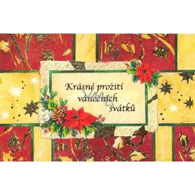 Nekupto Blahopřání Krásné prožití vánočních svátků 1 kus