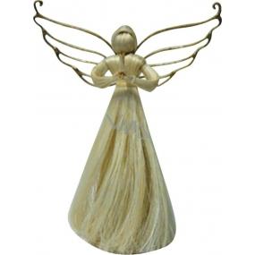 Anděl s kroucenými křídly 22 cm
