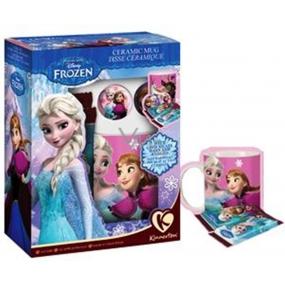 Disney Frozen Porcelánový hrníček + 2 čokolády, dárková sada