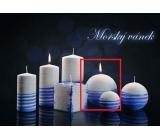 Lima Aromatická spirála Mořský vánek svíčka bílo - modrá koule průměr 100 mm 1 kus