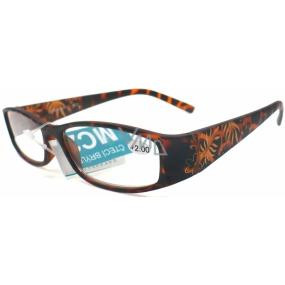 Berkeley Čtecí dioptrické brýle +1,50 hnědé vzorované retro CB02/MC2 1 kus ER6040