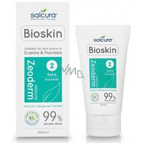 Salcura Bioskin 2 Extra Zeoderm krém na tělo i obličej pro suchou a citlivou pleť 50 ml