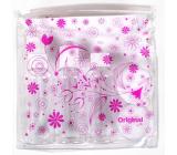 Albi Original Cestovní sada lahviček Růžové květy 16,7 x 16,2 x 4,5 cm