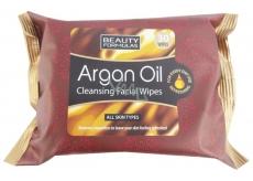 Beauty Formulas Arganový olej Kosmetické odličovací a čisticí ubrousky 30 kusů