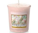 Yankee Candle Rainbow Cookie - Duhové makronky vonná svíčka votivní 49 g