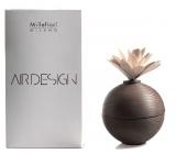 Millefiori Milano Air Design Difuzér nádobka pro vzlínání vůně pomocí porézní vrchní části dřevěný s květinou Hnědá koule