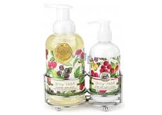 Michel Design Works Lesní plody pěnící tekuté mýdlo 530 ml + mléko na ruce a tělo 236 ml kosmetická sada péče o ruce