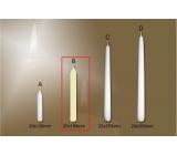 Lima Gastro hladká stolní svíčka slonová kost 20 x 190 mm 4 kusy