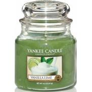 Yankee Candle Vanilla Lime - Vanilka s limetkou vonná svíčka Classic střední sklo 411 g